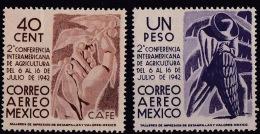 Mexico (Sc# C127-28) MNH (Singles To Set Of 3)   (1942) - Mexique