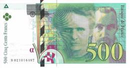 FRANCE 500 FRANCS 1994 P-160a AU++/UNC SER: B 021016487  [ FR160 ] - 500 F 1994-2000 ''Pierre En Marie Curie''
