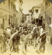 Afrique De L'Est Kenya Mombasa Ivoire Pour New York Ancienne Photo Stereoscope Underwood 1909 - Stereoscopic