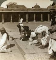 Inde Ahmedabad Mosquée Interieur Priere Ancienne Photo Stereoscope Underwood 1903 - Stereoscopic