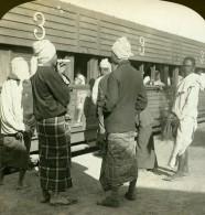 Birmanie Gare Wagon De Troisieme Classe Pour Femmes Ancienne Photo Stereoscope HC White 1907 - Stereoscopic