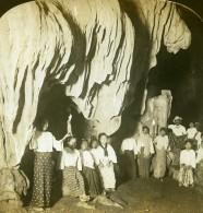 Birmanie Grottes De Paingoo Stalactites Ancienne Photo Stereoscope HC White 1907 - Photos Stéréoscopiques
