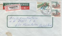 Portugal Registered Cover MANGUALDE Cancel - Cartas