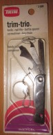 TRIM TRIO KNIFE - NAIL FILE - BOTTLE OPENER  MADE IN USA  BLISTER - Strumenti