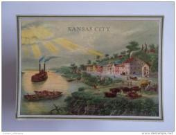 ART POSTCARD USA KANSAS CITY PARTIAL VIEW & BARCO BOAT BATEAU BATEAUX BOATS BARCOS 1970 YEARS POSTCARD - Kansas City – Missouri