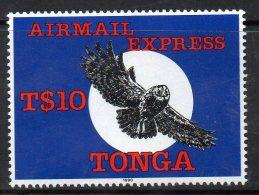 1990 Tonga Owl Airmail Express Complete Set Of 1  MNH - Tonga (1970-...)
