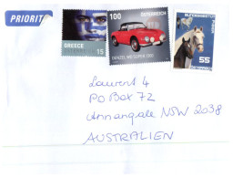 (111) Austria To Australia Cover - 2016  (Car - Greece Etc) - 1945-.... 2ème République