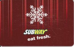 Subway Metallic Gift Card