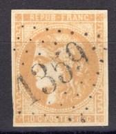 N° 43Ba (Bistre-Orangé) Avec Oblitération Losange Centrale 1359 TB - 1870 Uitgave Van Bordeaux