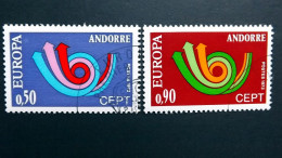 Andorra Franz. 247/8 Oo/used, EUROPA/CEPT 1973