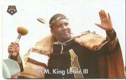TELECARTE PHONECARD LESOTHO  CARTE A PUCE H.M. KING LETSIE III