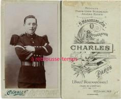 En 1903-CDV Brigadier Fourrier? Du 76e Régiment-photo Charles Des Gens De Lettres Bld Beaumarchais PARIS - Guerre, Militaire