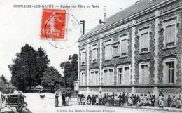Cpa (51) Sermaize-les-bains --ecoles Des Filles Et Asile (tres Belle Cpa  Ani...et  Ra...) - Sermaize-les-Bains