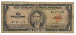 Dominican Republic. 1 Peso Oro, F.  Free Ship. To USA. - Dominicana