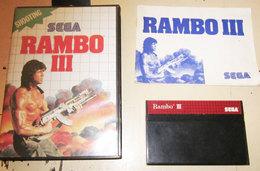 SEGA RAMBO III - Sega