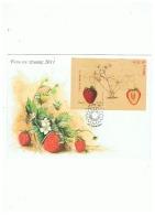 ENVELOPPE FETE DU TIMBRE 2011 FRAISIER RUBIS  ++ - 2010-....