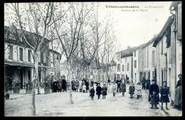 Cpa Du 11  Villemoustaussou -- La Promenade -- Avenue De La Mairie   LIOB113 - France