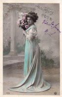 Heureuse Fête - PC Femme Au Bouquet 1909 N ° 4231 - Feiern & Feste