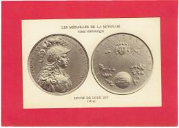 MEDAILLE DE LA MONNAIE 1674 DEVISE DE LOUIS XIV NEC PLURIBUS IMPAR SUPERIEUR A LA PLUPART CARTE EN BON ETAT - Royaux / De Noblesse