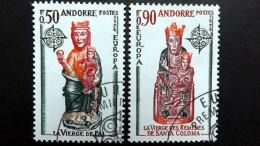 Andorra Franz. 258/9 Oo/ESST, EUROPA/CEPT 1974, Madonna Von Pal, Madonna Von St. Coloma