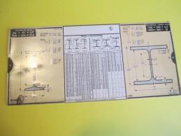 Mécanique/Réglette Carton  Articulée/OMARO/Fers Profilés -Poutrelles/Nation/Paris/1935    VPN58 - Old Paper