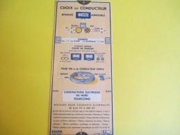 Mécanique/Réglette Carton  Articulée/OMARO/Moteurs Asynchrones/Constr. Elect.du Nord/Tourcoing/1939    VPN59 - Old Paper