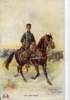Artillerie Montée ,carte Illustrée Par Léon HINGRE - Regiments