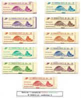 France, 11 Carnets De Couleurs Différentes N°2220 C3 A ** - Carnets