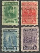 CUBA MARTA ABREU YVERT NUM. 299/302 SERIE COMPLETA USADA - Cuba