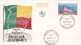 Dahomey - Lettre - Timbres