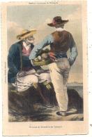 -29- Anciens Costumes De BRETAGNE Hommes De Roscoff Et De Carantec  Neuve TB (2/3 Petites Taches Rouilles Dos) - Carantec