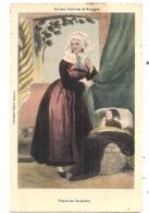 Anciens Costumes De BRETAGNE Femme De Châteaulin Et Bébé - Collection Villard Peu Courante - Neuve TTB - Châteaulin