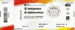 Ticket.Football.soccer.UEFA UNDER 21 Mach.Macedonia Vs Northern Ireland 2016 - Tickets D'entrée