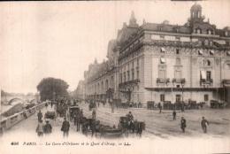 75 PARIS LA GARE D'ORLEANS ET LE QUAI D'ORSAY PAS CIRCULEE - Stations, Underground