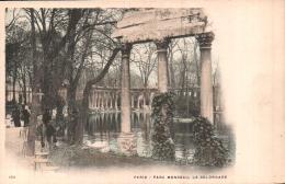75 PARIS  PARC MONCEAU LA COLONNADE CARTE PRECURSEUR PAS CIRCULEE - Parcs, Jardins