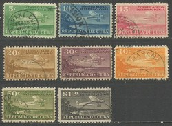 CUBA CORREO AEREO YVERT NUM. 4/11 SERIE COMPLETA USADA - Poste Aérienne