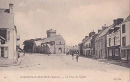 BARNEVILLE-sur-Mer/50/ La Place De L'église/ Réf:C4589 - Barneville
