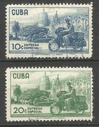 CUBA CORREO URGENTE YVERT NUM. 22/23 SERIE COMPLETA USADA - Timbres Express
