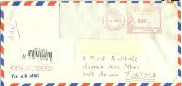 Taiwan 2000-Lettre Recommandée Envoyé Vers LaTunisie Le 04-03-2000 - 1949 - ... People's Republic