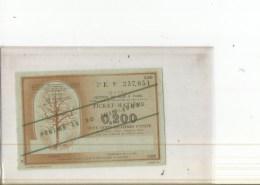 LOT 5 TICKETS  BOIS MATIERE   30 JUIN 1945   O 2. 3 . 1 .  2 . 5 . 10 UNITES - Ohne Zuordnung