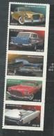 Etats-Unis N° 4118 / 22 XX Automobiles Classiques,  Les 5 Valeurs Auto-adhésives En Bande Verticale, Sans Charnière, TB - Nuevos