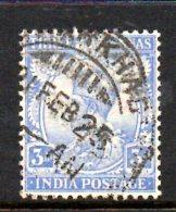 T481 - INDIA , 3 Anna Usato Yvert N. 86 Multistar - India (...-1947)