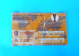 FC RABOTNIICKI : FC LIVERPOOL England - 2010. UEFA EUROPA LEAGUE Football Soccer Match Ticket Biglietto Calcio Fussball - Match Tickets