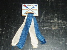 BOUTONNIERE EN EMAIL ANCIENNE AVIRON - MATCH ROWING MARNE - RARE - SUPERBE MEDAILLE AVIRON SPORT - Rowing