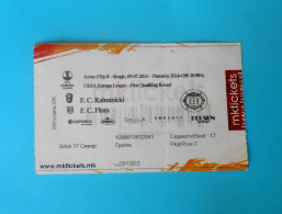 FC RABOTNIICKI : FC FLORA Tallinn Estonia 2015 UEFA EUROPA LEAGUE Football Soccer Match Ticket Biglietto Calcio Fussball - Eintrittskarten