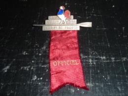 BROCHE AVIRON OFFICIEL COQ EN EMAIL - CRIP JUILLET 1934 CHAMPIONNATS DE FRANCE - RARE - SUPERBE MEDAILLE AVIRON SPORT - Aviron