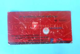 FC RABOTNIICKI : HSK ZRINJSKI Mostar Bosnia - 2007. UEFA CUP Football Soccer Match Ticket Biglietto Foot Billet Calcio - Match Tickets