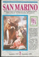SANBF3--  SAN MARINO,  BOLLETTINO FILATELICO,  N° 3,   1990, - FDC
