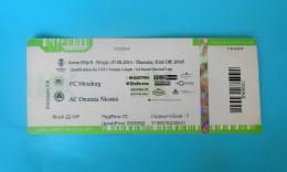 FCMETALURG : AC OMONIA Nicosia Cyprus - 2014. UEFA EUROPA LEAGUE Football Soccer Match Ticket Foot Billet Biglietto - Match Tickets