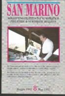 SANBF8--  SAN MARINO,  BOLLETTINO FILATELICO,     N°8,    1992, - FDC